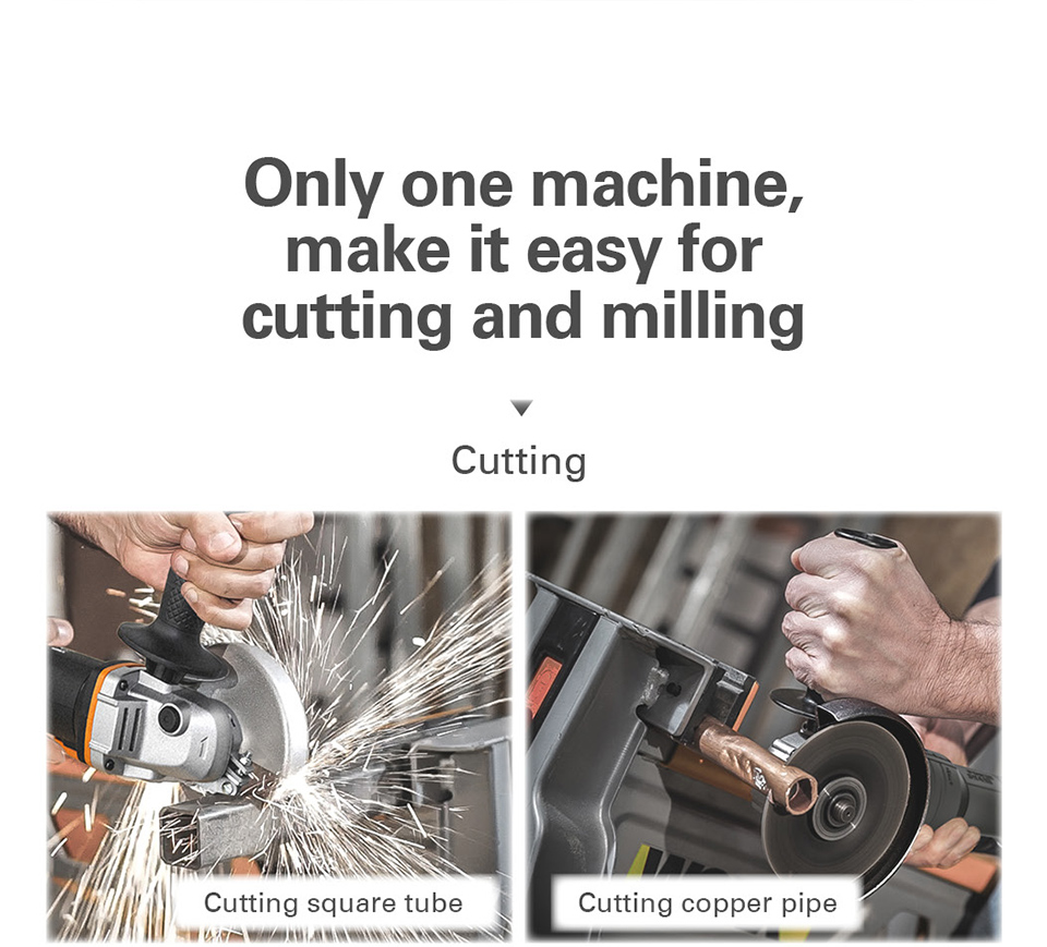 Cutting Square tube with Worx Mini Grinder