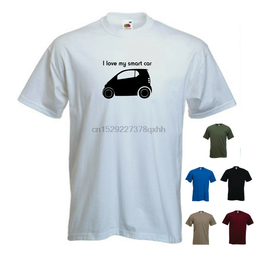 /'Only Smarties Have the Answer/' Ladies Girls Funny Smart Car For Two T-shirt Tee