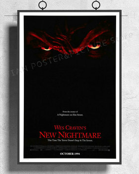 NJ610 WES CRAVENS NEW NIGHTMARE Movie Freddy Krueger 02 Wall Sticker Silk Poster Art Home Decoration image