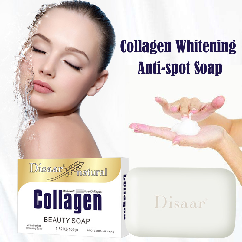 Natural Face&Body Cleaning, Whitening Handmade Double Whitening made with 100% Pure Collagen Soap.Certified Organic Ingredients