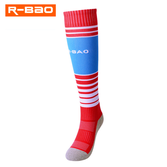 Professional Kids Football Socks Breathable Thicken Terry-loop Hosiery Compression Long Stocking Soccer Sock for Boys Teenager