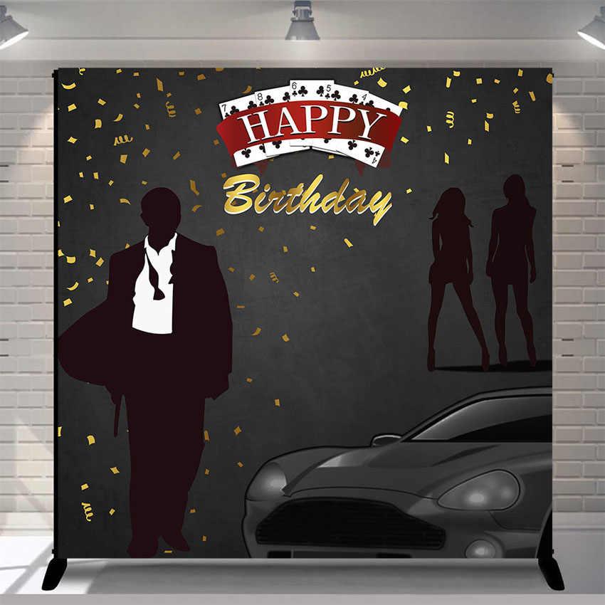 James Bond Theme Party Spy Party 007 James Bond Party Party Photo Booth Backdrop  H-T50 AA2 Casino Party Secret Agent Party
