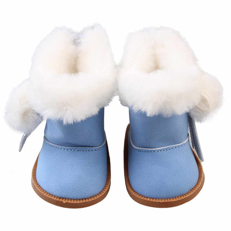 43cm Born Baby Dolls Snow Boots Shoes for 18 inch Doll Winter Chirstmas Shoes Doll Accessories