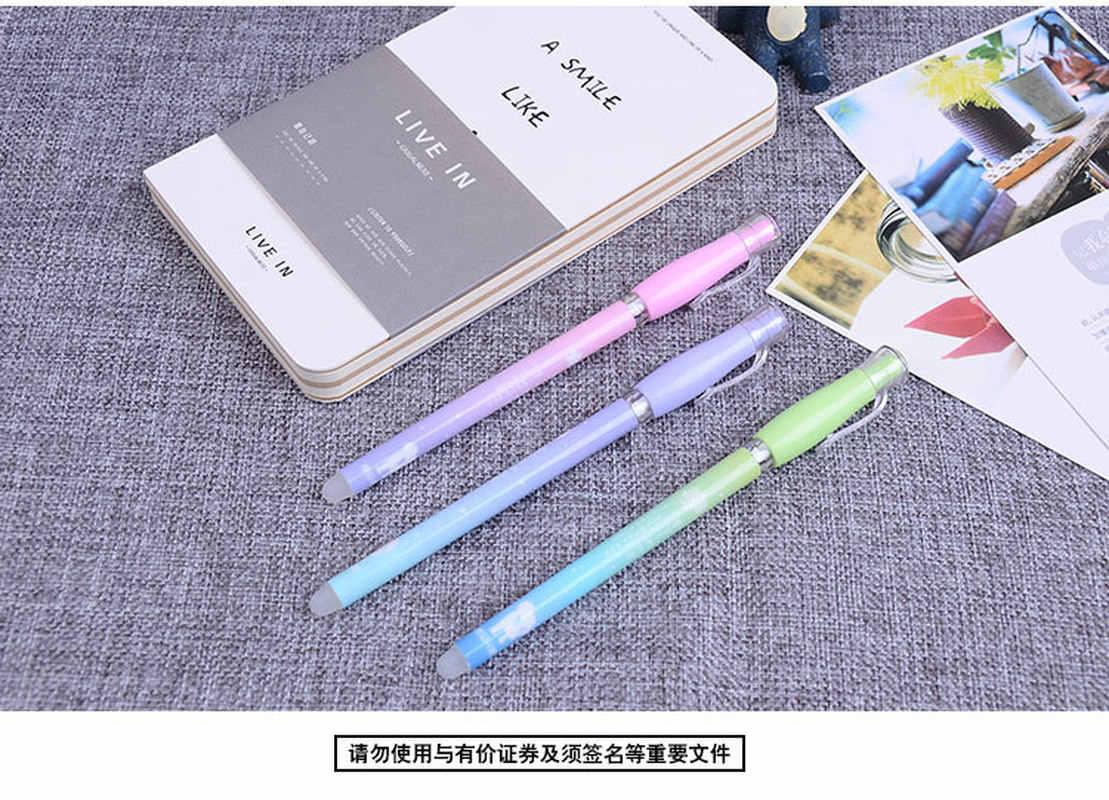 0.38mm Kawaii מחיק עטים עבור בית ספר ציוד משרדי קסם דיו Creative ג 'ל עט חדש הנמכר ביותר חמוד תלמיד מכתבים חנות