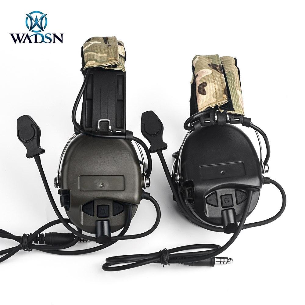 WADSN тактические наушники Peltor версия связи стрельба гарнитура с камуфляжная повязка на голову без снижения уровня шума-2