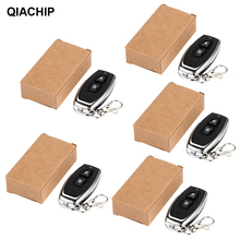 QIACHIP 5PCS 433 Mhz 2CH Universal Wireless Remote Control 1527 Learning Code Transmitter For Gate Garage Door Light Controller