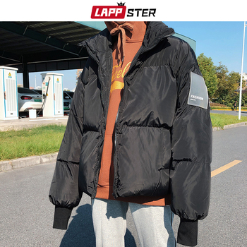 LAPPSTER Men Black Streetwear Bubble Coat 2020 Winter Jacket Mens Korean Puffer Jackets Coats Male Harajuku Thick Hip Hop Parka - discount item  41% OFF Parkas