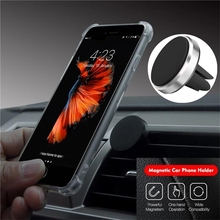 Metal Magnetic Phone Holder in Car Air Vent Mount Magnet Stand Smartphones Holder Support All Mobile Phone For iPhone Huawei