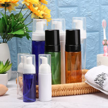 40/50/ 80/100/150/200 ml şeffaf mavi köpük şişe sıvı sabun çırpılmış mus noktaları şişeleme şampuan losyonu duş jeli pompası