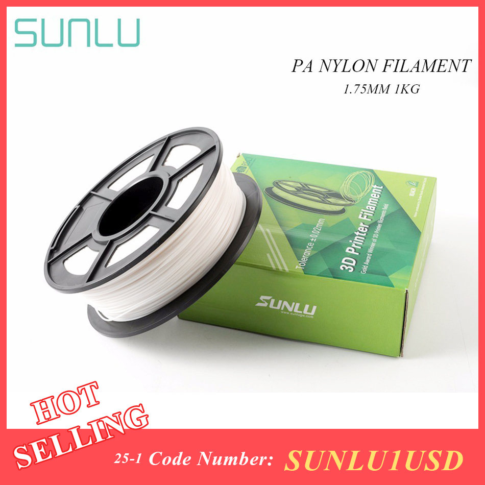 SUNLU PA Nylon V2 3D Printer Filament High tensile Strength Nylon Filament 1.75mm 1KG 3D Printing Material