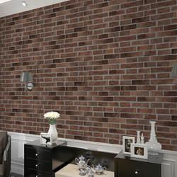 Ретро кирпичные винтажные кирпичные обои ПВХ обои магазин деревянные чашки для чая дом коридор стены обои оптом