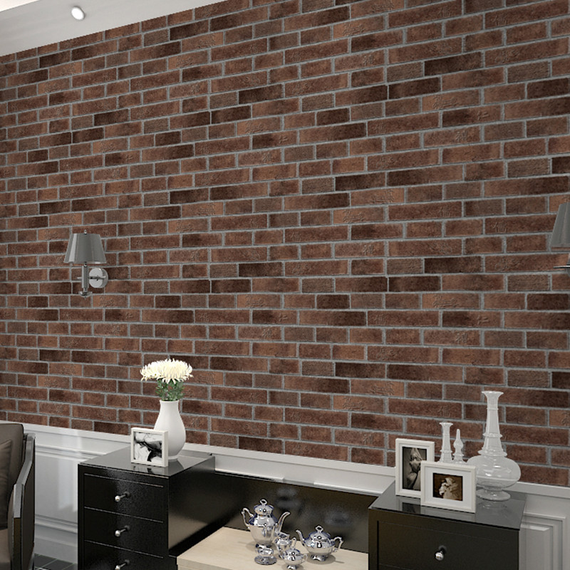 Retro Brick Vintage Brick Wallpaper PVC Wallpaper Store Restaurant Tea House Corridor Wall Wallpaper Wholesale