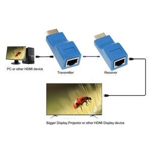 Image 4 - Plus récent Extendeur HDMI 4k RJ45 Ports LAN Réseau Dextension HDMI Jusquà 30m Sur CAT5e / 6 hotUTP LAN Câble Ethernet Pour HDTV HDPC
