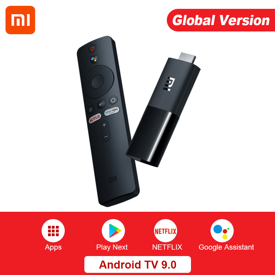 Глобальная версия Xiaomi Mi TV Stick Android TV 9,0 Smart 1080P 1Гб RAM 8Гб ROM с Bluetooth 4,2 мини ТВ-тюнер-приемник Wi-Fi и Google Assistant