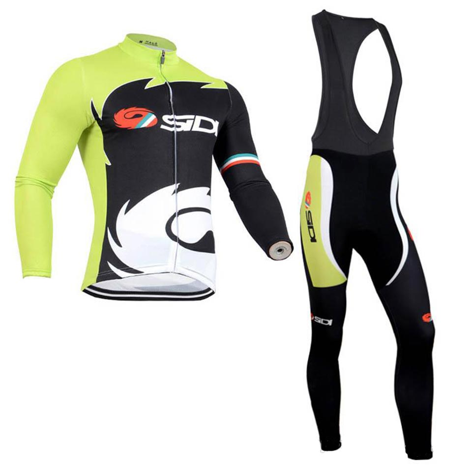 2019 Sidi Pro team Cycling Jersey Set Long Sleeve Autumn MTB Bicycle Clothing Men outdoor Bike Sportswear quick-drying