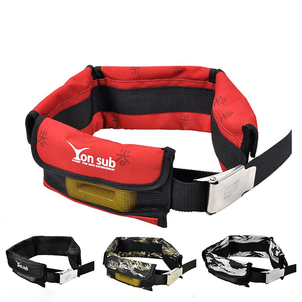 Diving Bag Adjustable 4/3 Pocket Weight Belt With CNC Buckle Pouch Counterweight Bag For Underwater Snorkeling Scuba Storage Bag