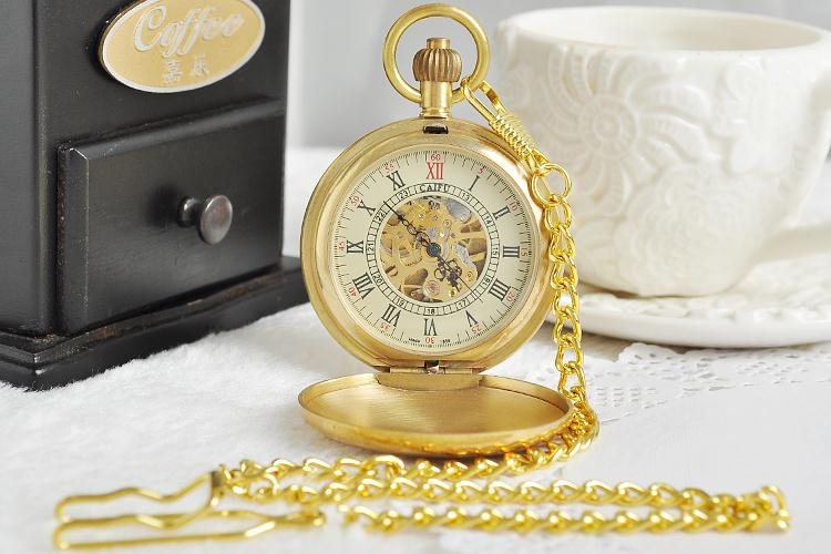 Vintage-Watch-Manufacturers-Style-Copper-Case-Pocket-Watch-with-Chain-Mechanical-Hand-Winding-Top-Quality-Best (1)