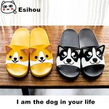 Super Cute Corgi Huskie Sandal Cartoon Original Cosplay Costumes Shoes Summer Lovers Soft Soled Japanese Home Slipper Nice Gift