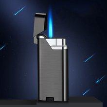 2020 Nieuwe Winddicht Cigarett Aansteker Metalen Gas Aansteker Blauwe Vlam Draagbare Jet Turbo Aansteker Butaan Spuitpistool