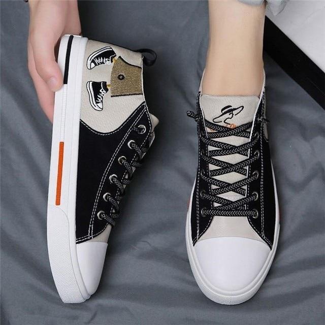 Новинка 2020 года; удобная повседневная обувь; сезон весна-лето; парусиновая обувь для мужчин; удобная обувь для мужчин; брендовые модные лофе...