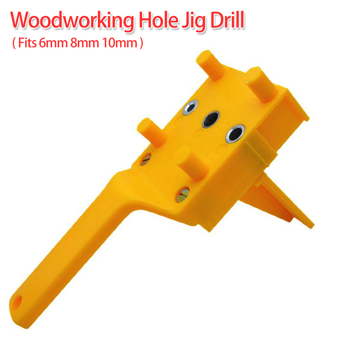 Doweling Jig Drill 6/8/10mm Handheld Pocket Hole Jig Set Woodworking Wood Dowel Self-Centering Puncher Drill Guide Locator