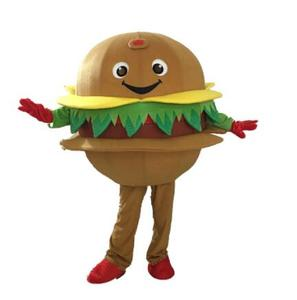 Hamburger Mascot Costume Advertising Character Feature Fancy Dress Outfit Halloween Cosplay party(China)