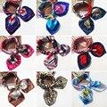 Модный Шелковый шарф, шарфы, женские шали, шейный платок, квадратная маленькая повязка на голову 2021, модный шейный платок с принтом, шарф, бан...