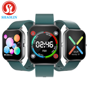 SHAOLIN Smart Watch Temperature Full Touch Fitness Tracker Heart Rate Monitor Women Men Smartwatch for Apple watch ios android