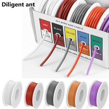 DIY high quality flexible silicone wire and cable 5 colors in a box mixed wire tinned pure copper wire