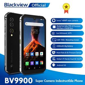 Image 1 - Blackview BV9900 Helio P90 אוקטה Core 8GB + 256GB IP68 מוקשח נייד טלפון אנדרואיד 9.0 48MP Quad אחורי מצלמה NFC Smartphone