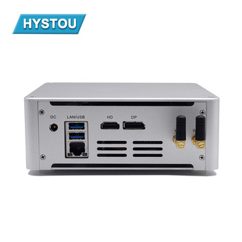 HYSTOU Intel core mini computer quad core i5 i7 business pc desktops with fashion white rugged case as gaming office pc