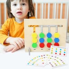Деревянный стул для сборки игрушки Монтессори цвет игрушек и