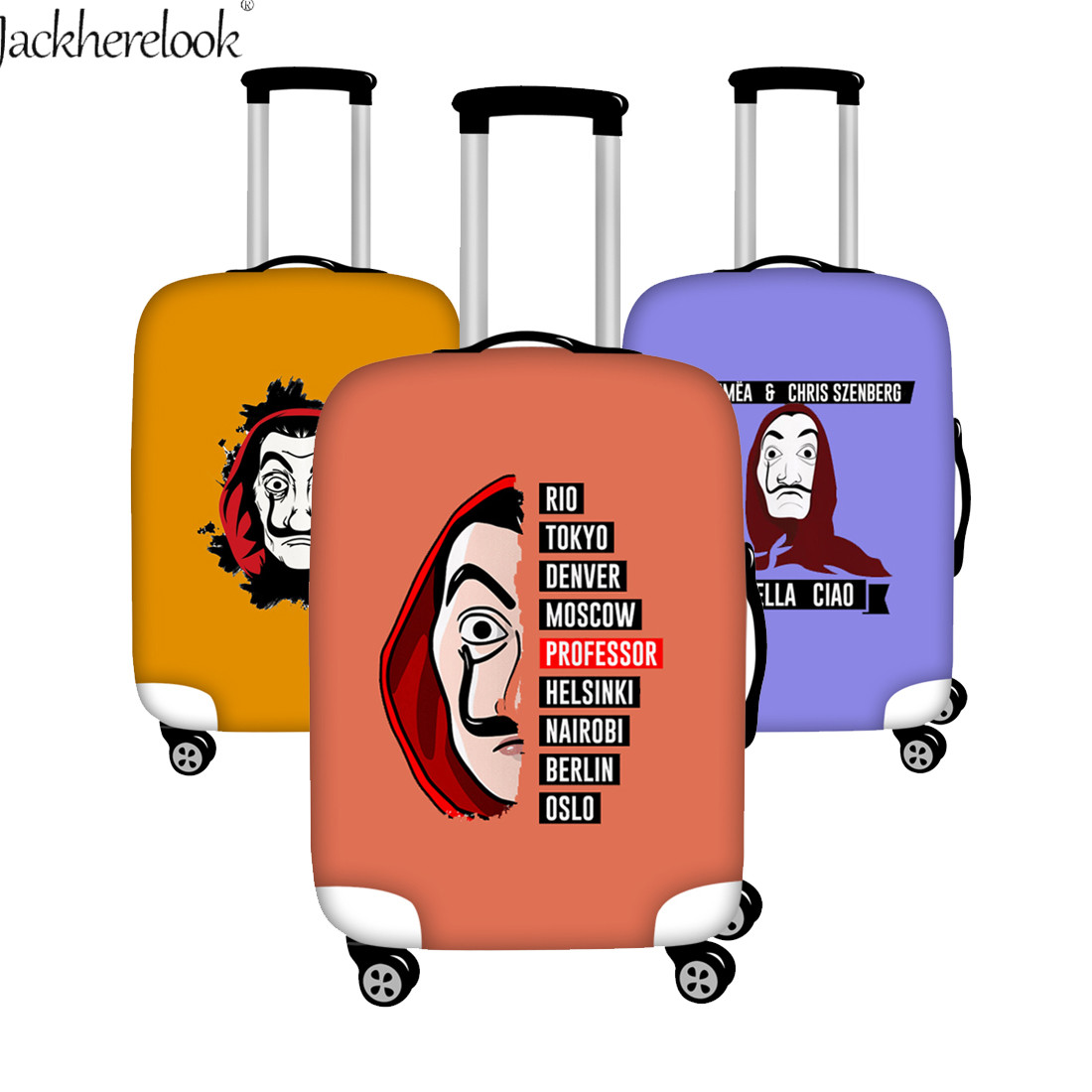 La Casa De Papel Print Baggage Bag Case Salvador Dali Movie Travel Suitcase Cover Elastic Dustproof Cover for Luggage Trolley image