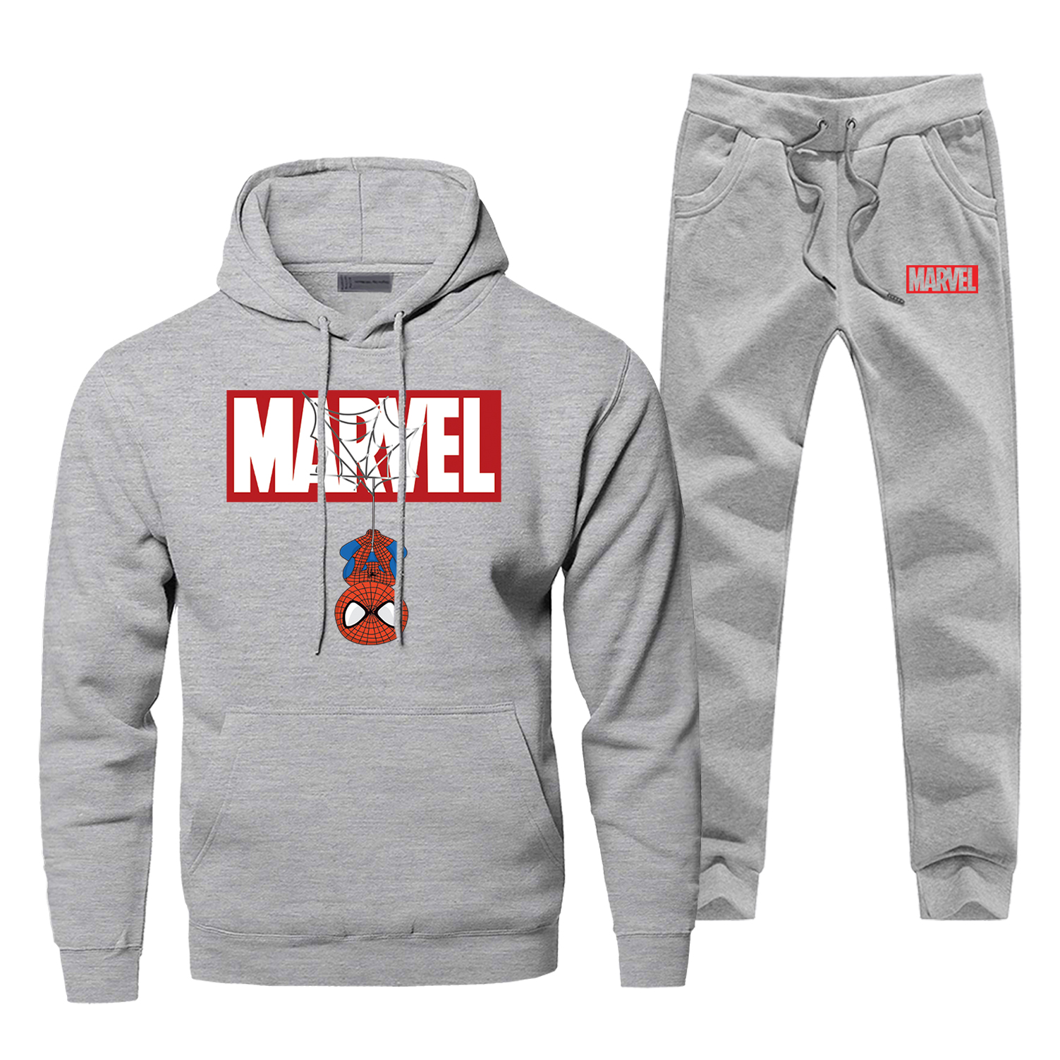 Hoodies Pants Sets Men Spider Man Superhero Track Suit Peter Parker Sweatshirt Sweatpants Sportswear Autumn Sports Sportswear
