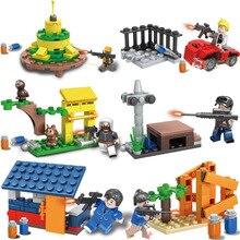 Militär Bausteine Legoingly Armee WW2 Stadt Polizei PUBG Schlachtfelder Soldaten Waffe Pistole Ziegel Spielzeug für Jungen