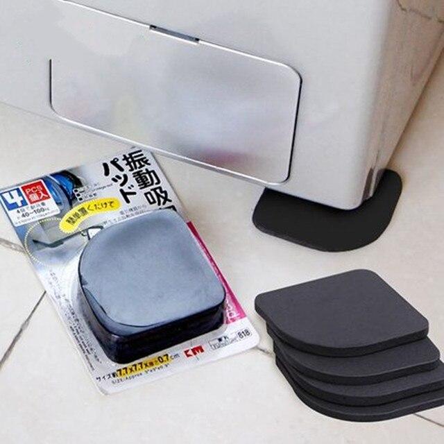 1set=4pcs! Black Furniture Chair Desk Feet protection pads EVA Rubber Washing Machine Shock Non slip mats Anti vibration Noise