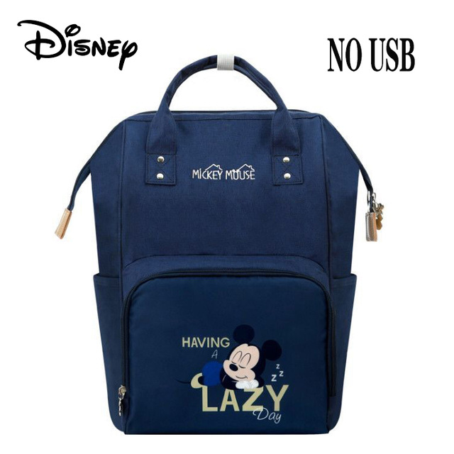 Disney Mickey Minnie USB Waterproof Stroller Diaper Bags For Mom Capacity Mummy Maternity Nappy Bag Nursing Bag For Baby New