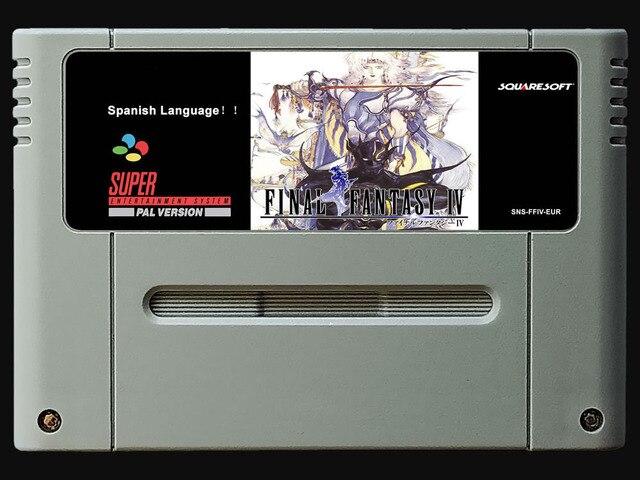 16Bit ゲーム * * FF 4 (スペイン語 PAL バージョン!! スペイン語!!)