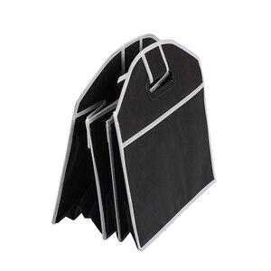 Image 5 - Auto Rücksitz Organizer Multi Tasche Lagerung Tasche Große Kapazität Klapp Auto Stamm Verstauen Aufräumen Zubehör