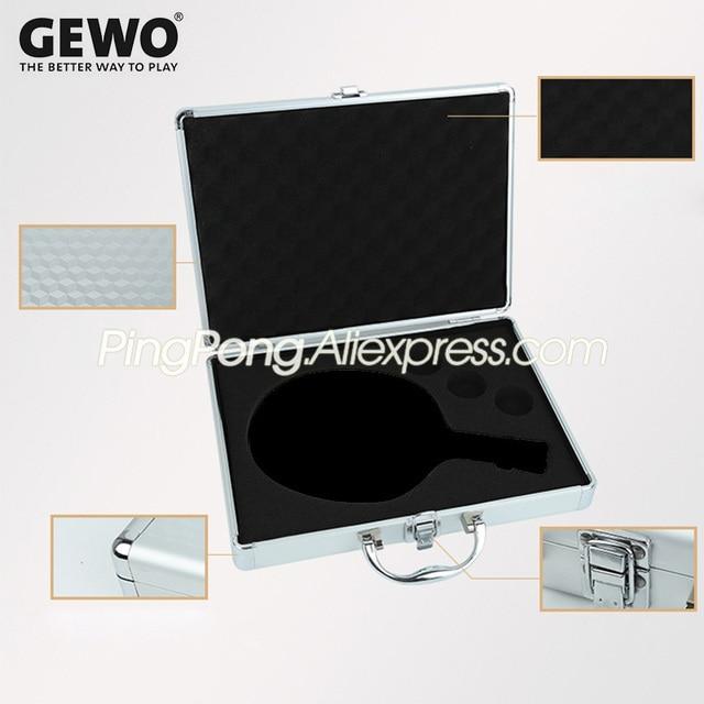 GEWO Aluminum Table Tennis Racket Case Bag for Ping Pong Blade Bat Paddle Balls Metal Alu-Safe Storage Box Collection Suitcase