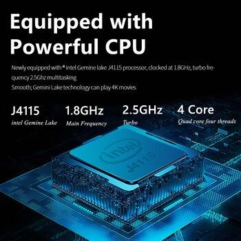 KUU XBOOK 14.1 Inch 8GB DDR4 RAM 128G 256G SSD Windows 10 laptop Intel J4115 Quad core Keyboard Student Notebook 2