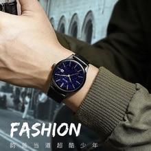 лучшая цена Relogio Masculino Leather Men Watch 2019 Black Gold Fashion Casual Luxury Waterproof Men Sports Wrist Watch Quartz Wristwatch