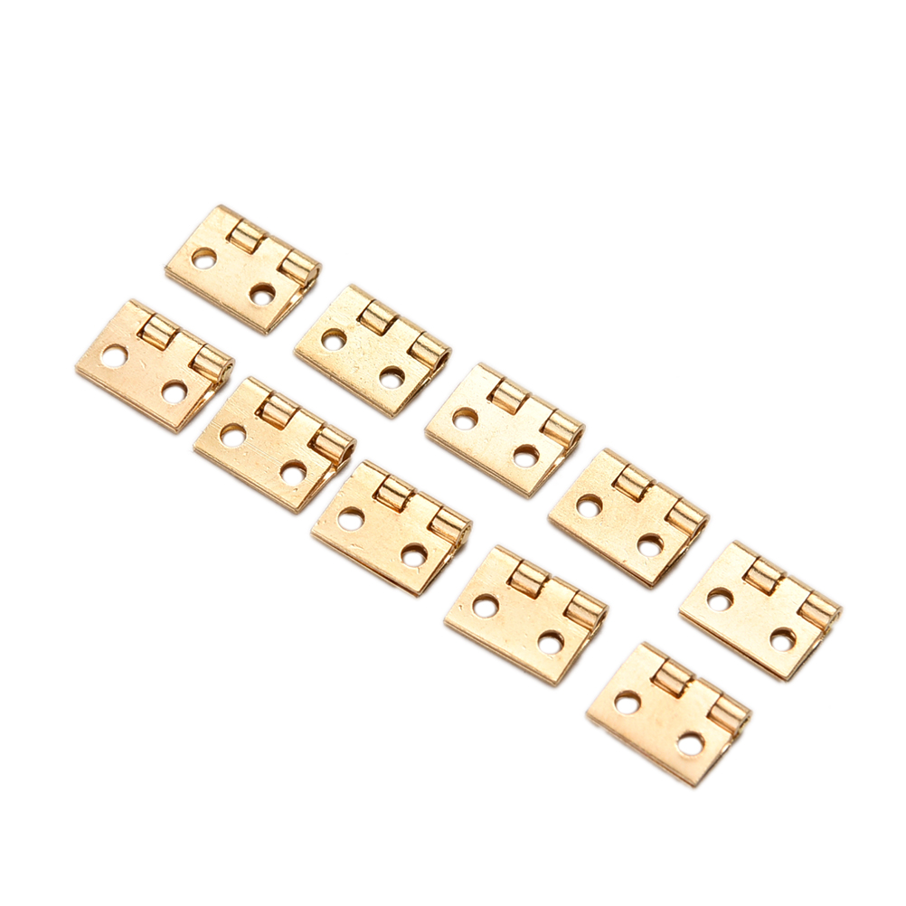 10pcs/lot Metal Small Hinge Mini Cabinet Drawer Hinge Toy House Miniature Furniture Hand Tool With Screw
