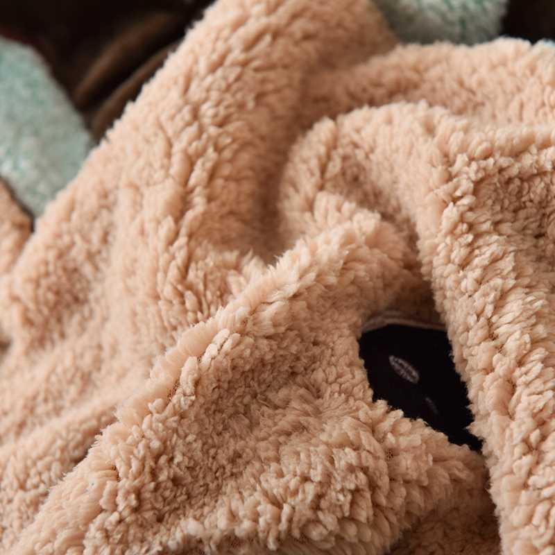 Cartoon Weihnachten Deer Stickerei Samt Flanell Kind Bettwäsche set Berber Fleece Bettbezug Bett Leinen Ausgestattet Blatt Kissen