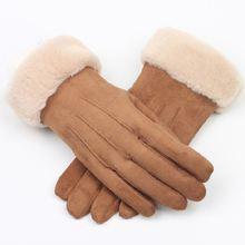 Лидер продаж теплые бархатные перчатки из оленьей кожи для осени