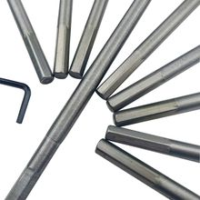 10pcs High Carbon Steel 3 Tip Long Wood Flat Drill Bit Round Hexagon Handle Woodworking Punching Tool