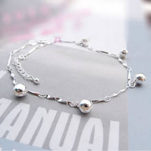 New 1pc for Women Ankle Bracelet Chain Crystal Foot Jewelry Charm Silver Plated Chain Bell Anklets(China)