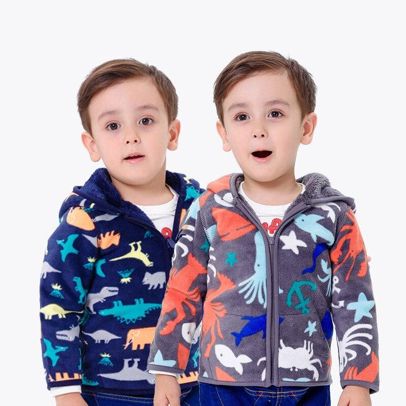 Kids coat fleece boys clothes winter warm clothes children clothing baby spring polar fleece girls boys jacket Hooded kids coat 1