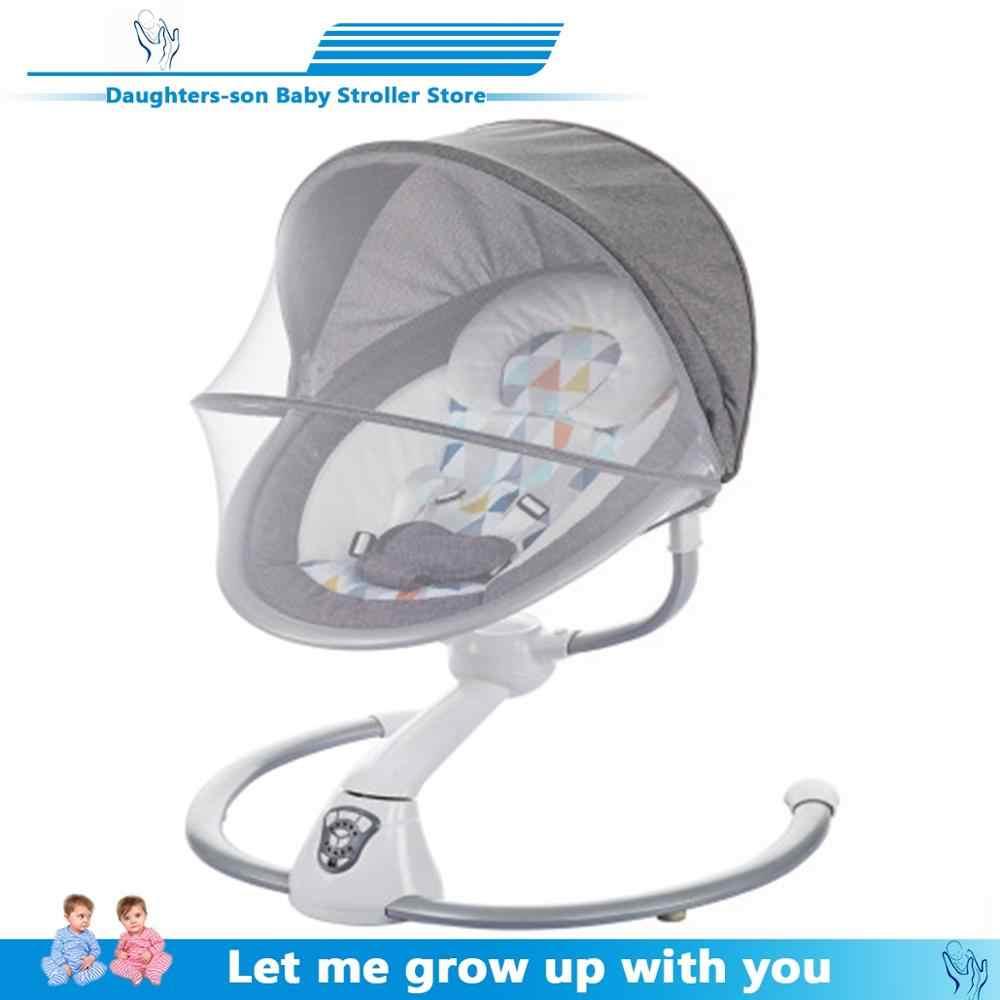 เด็กโยกเก้าอี้เด็กไฟฟ้า Cradle โยกเก้าอี้ Soothing Baby's Artifact นอนถุงนอนเด็กแรกเกิดโยกเก้าอี้