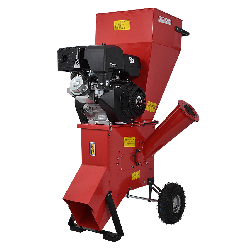 New Arrival 13 Horsepower Tree Branch Crusher Grinder Garden Wood Shredders With Gasoline Engine 2400rpm 389CC 6L 13HP 3600rpm